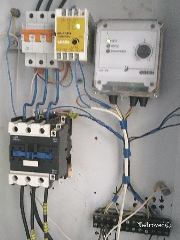 защита, управление электродвигателем